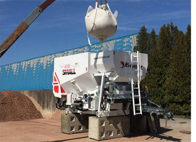 1 off Ex-hire KIMERA model KS25 SMALL Mobile Concrete Batching Plant (2019)