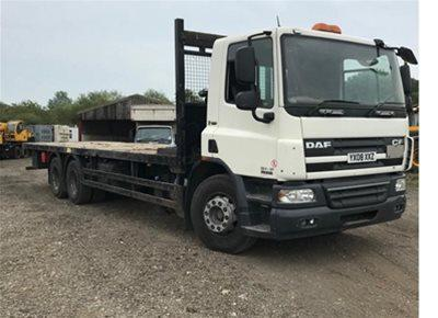 1 off Used DAF model CF75.310 30ft Flatbed Lorry (2008)