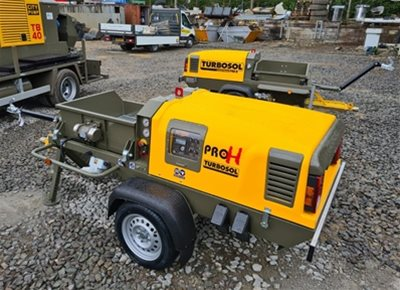 2 off New HYDROMIX / TURBOSOL model PRO H CL Liquid/Self-Levelling Screed Pumps (2021)
