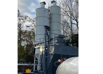 1 off Ex-hire HYDROMIX model SM35 Vertical Cement Silo (2020)